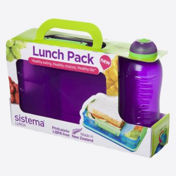 Sistema Lunch packs lunchbox Snack Attack Duo & drinkfles 330ml (6 ass.)