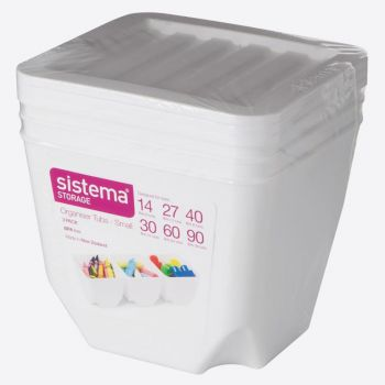 Sistema Storage set van 3 opbergdozen met deksel wit 1.3L (per 6st.)