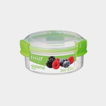 Sistema Fresh ronde voorraaddoos groen 300ml (per 8st.)