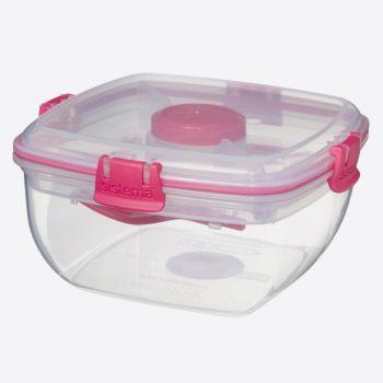 Sistema To Go kom voor salades met bestek roze 1.1L (per 12st.)