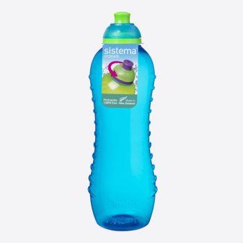 Sistema Lunch drinkfles Twist n Sip blauw 620ml (per 12st.)
