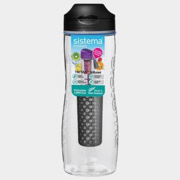 Sistema Hydrate drinkfles Tritan Infuser zwart 800ml (per 6st.)