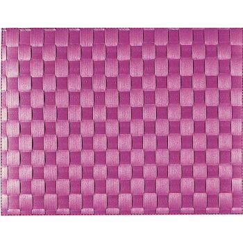 Saleen breed geweven placemat uit kunststof paars 30x40cm