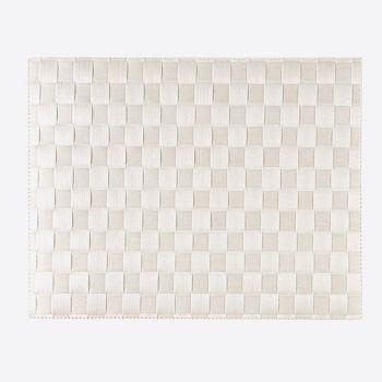 Saleen breed geweven placemat uit kunststof wit 30x40cm