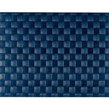 Saleen breed geweven placemat uit kunststof donkerblauw 30x40cm