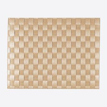 Saleen breed geweven placemat uit kunststof crème 30x40cm