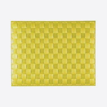 Saleen breed geweven placemat uit kunststof limoengeel 30x40cm