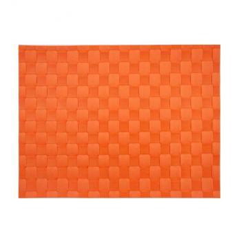 Saleen breed geweven placemat uit kunststof oranjerood 30x40cm