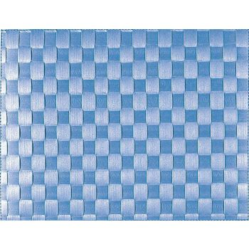 Saleen breed geweven placemat uit kunststof marineblauw 30x40cm