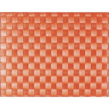 Saleen breed geweven placemat uit kunststof oranje 30x40cm