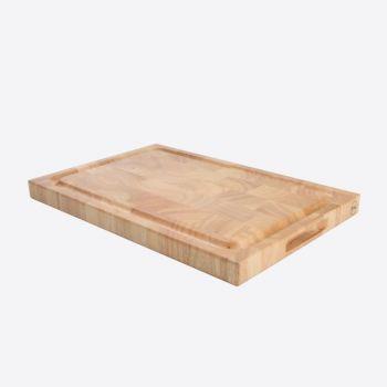 T&G Woodware snijplank met sapgeul uit hevea hout 42x28x3cm