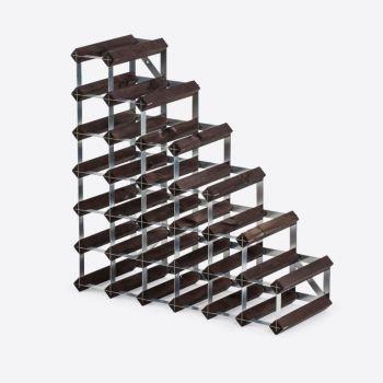 Traditional Wine Rack Co. Stairs wijnrek onder trap verbrande eik 61.2x22.8x61.2cm