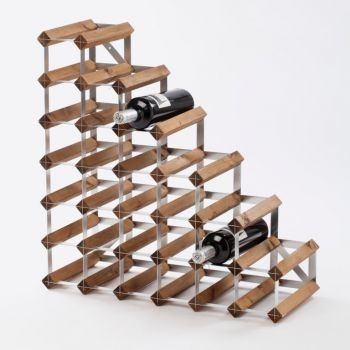 Traditional Wine Rack Co. Stairs wijnrek onder de trap donkere eik 61.2x22.8x61.2cm