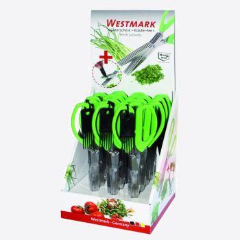 Westmark kruidenschaar uit kunststof en rvs groen 20x7.6x1.9cm (12st./disp.)