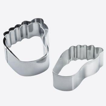 Westmark set van 3 uitsteekvormen voor koekjes uit rvs voet 6.5; 8 en 11cm