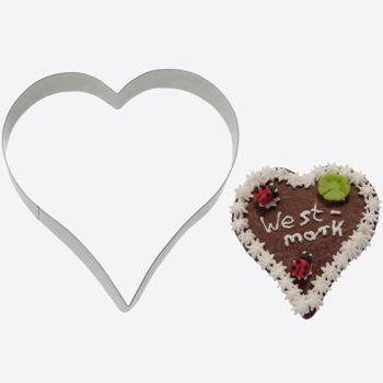 Westmark uitsteekvorm uit rvs hart 12.2x11.6x2.2cm