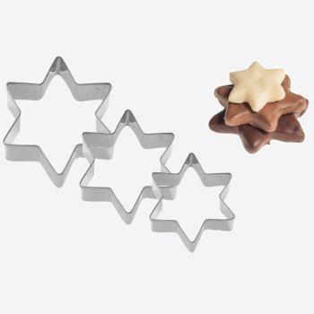 Westmark set van 3 uitsteekvormen uit rvs ster 4; 5 en 6cm