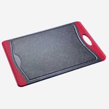 Westmark anti-slip snijplank uit kunststof zwart en rood 30x21x1.4cm