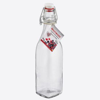 Westmark vierkante fles uit glas met beugelsluiting 500ml