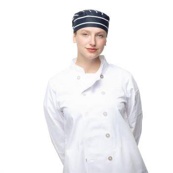 Whites skullcap blauw-wit gestreept