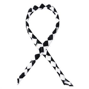 Whites halsdoek zwart-wit geruit