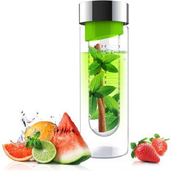 Asobu - Flavour It Pure - 480 ml - Zilver/Groen