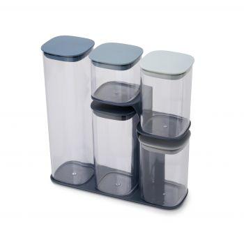 Joseph Joseph Editions Sky Podium Voedsel Container - Kunststof - Set van 5 Stuks - Oceaan