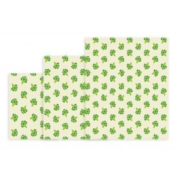 Bee's Wax Groente Wrap - Katoen/Wax - Set van 3 Stuks - Geel/Groen