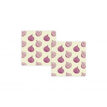 Bee's Wax Ui Wrap - Katoen/Wax - Set van 2 Stuks - Geel/Paars