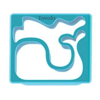 Tovolo Keukenhulp Gadget sandwich Steker Walvis & Octopus Turquoise