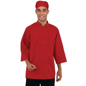 Chef Works unisex koksbuis rood L