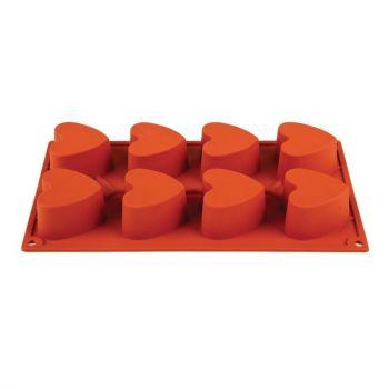 Pavoni Formaflex silconen bakvorm 8 hartjes