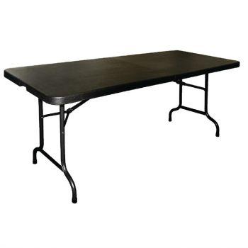 Bolero inklapbare tafel zwart 183cm