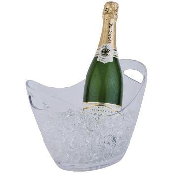 APS acryl champagne bowl klein transparant