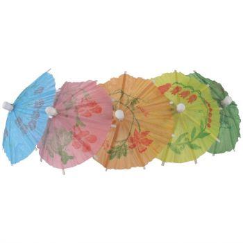 Papieren parasol cocktailprikkers assorti