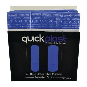 Quickplast detecteerbare blauwe pleisters