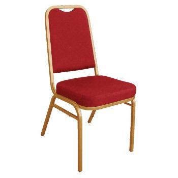 Bolero banketstoel met vierkante rugleuning rood (4 stuks)