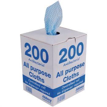 Jantex multifunctionele antibacteriële doekjes blauw
