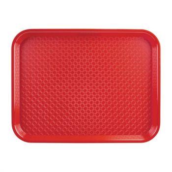 Kristallon dienblad rood 34.5x26.5cm