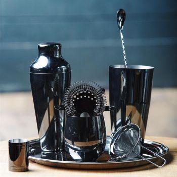 Olympia Hawthorne cocktail strainer 4 tanden zwart