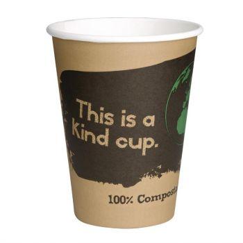 Fiesta Green composteerbare koffiebekers enkelwandig bruin 34cl (50 stuks)