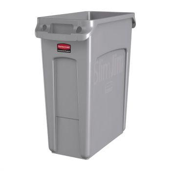 Rubbermaid Slim Jim container met luchtsleuven 60L