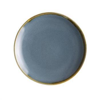 Olympia Kiln ronde coupeborden blauw 17.8cm