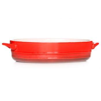 Cosy & Trendy Red Gratinschotel 21x15,5xh5cm Ovaal Bin