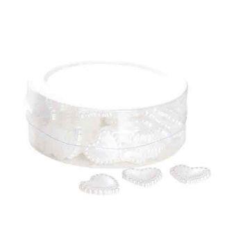 Cosy @ Home Strooi Hartjes Plastic Wit 1.5cm