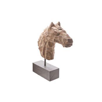 Cosy @ Home Beeld Paard Op Voet Hout Natuur 39x10x42