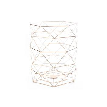 Cosy @ Home Vuilbak Geometrisch 25.5x25.5x31cm Koper
