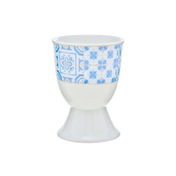 Cosy & Trendy Tile Blue Eierdopje D5xh6.5cm Set 6