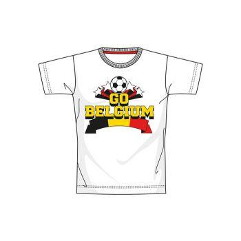 Ek 2021 Belgium S12 T-shirt Wit Jeugd