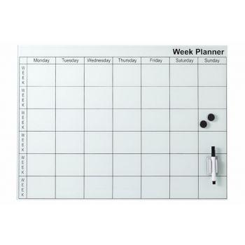 Cosy @ Home Memobord  Wit Glas 45x61cm Week Planner